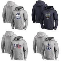 hoodie do jérsei do hóquei dos homens venda por atacado-2018 Series Series Pulôver Moletom Com Capuz Toronto Maple Leafs Homens Costurados Heather Cinza Marinha Hóquei Jerseys Hoodie
