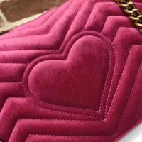 2021 NEW ARRIVED shoulder handbags women bags designer small messenger Velour bags feminina velvet girl bag come with box , two size