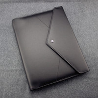 Wholesale agenda gift for sale - Group buy Handmade Leather Notepads Black envelope Agenda Luxury Office School Supplies Notebooks Personal Diary Stationery Products