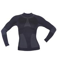 thermische t-shirts großhandel-Frauen Shirts Tops T-Shirt weibliches T-Shirt Langarm Thermal Compression Shirts Schlankes elastisches Fitness Workout Sweatshirt Einheitsgröße