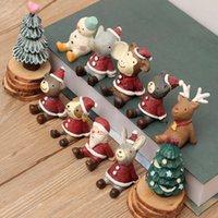 oyuncaklara bak toptan satış-Kısa Christmas Edition gökyüzü küçük bir hayvan süsleri Büro masaüstüne yaratıcı süsler yaratıcı çiçek hayvan kadar seyir (Noel oyuncaklar)