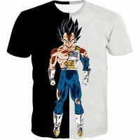 Wholesale Shirt Dragon Ball - S-5XL 2018 Men's Casual 3D Cloth Dragon Ball Super Acme Superlative Ultra Instinct White Super Saiyan God Son Goku Printed T-Shirt
