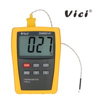 Wholesale K Type Thermocouple Thermometer - Vici High-precision Digital Thermometer Mini LCD temperature instruments Temperature Sensor Tester gauge + K-type Thermocouple