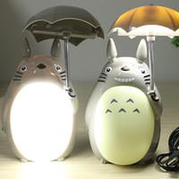 neuheit führte kind lampe groihandel-Großhandelskarikatur meine Nachbar Totoro Regenschirm-Lampe führte Nachtlicht USB-Lesetisch-Schreibtisch-Lampen für Kind-Geschenk-Neuheit Freies Verschiffen
