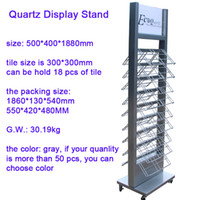 Wholesale Floor standing metal tile display shelf rack for ceramic tile retail wire metal powder coated factory