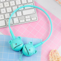 Wholesale kids mic - Cartoon Bear Stereo Ear Hook Earphone Headphone With Mic 3.5mm Sports Headset For Students Girls Kids Gifts