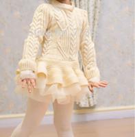 bebek saku ipek toptan satış-Kızlar kazak bebek çocuk ilkbahar / sonbahar / kış tutu elbise çocuklar moda giyim es 5BB406TS-29 marka