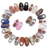 Wholesale soft soled shoes for toddlers for sale - Hard sole toddler moccasins soft PU Leather Fringe baby shoes Non slip first walkers shoes for M boys and girls B11