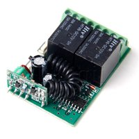ingrosso ricevitore mini rf-MLLSE 2 Pulsante 433MHZ Ricevitore Controller per telecomando wireless RF Apprendimento / Codice fisso Jog / Inter / Autobloccante mini Dimensioni A650