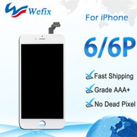 Wholesale Iphone Screen Part - High quality Grade AAA Lcd Display replacement for iphone 6 & 6 plus touch screen digitizer assembly repair parts white black color free shi