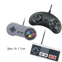Wholesale Joypad For Computer - ViGRAND VPLAY 3Pcs Wired USB Joystick For PC Computer For Snes USB PC Gamepad Gaming Nes Sega Controller Game Joypad