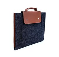Wholesale Hand Held Computers - New durable wool felt hand-held computer bag to protect your computer, practical and beautiful