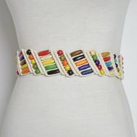 Wooden Beads Weaving Knotted Waist Chain National Style Belts Hand-woven  Belt Bohemia Female Ceinture Femme 48b3a89b04