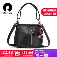 3d5f44e93c9 2019 Fashion REALER brand women small handbag genuine leather bags for  ladies shoulder crossbody bag female hobos messenger bag with tassels