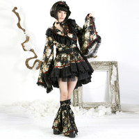 costumes japonais achat en gros de-Punk Lolita Mode Filles Belle Jolie Princesse Kimono Robe À Manches Longues De Style Japonais Mignon Robe Courte Robe Costume