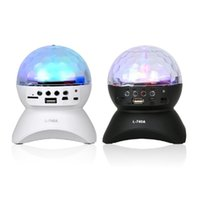 Wholesale Portable Outdoor Stage - LED Bluetooth Speakers Colorful Revolving Stage Light Mini Portable Outdoor Home Party Dancing Stereo Music MP3 FM Receiver