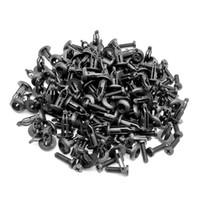 sujetadores de plástico al por mayor-50 UNIDS Negro Coche Fender Parachoques Abrazadera Fija Push Clip Clip Plástico Sujetador Auto para Toyota Serie Automóvil Sujetador