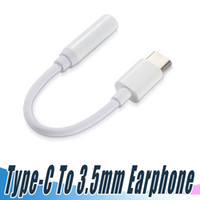 Wholesale Headphone Plug Types - Type C Earphone Adapter to 3.5mm Earphone Cable Adapter Conversion Headphone Plug Covertor Adapter for Type-C Smartphone