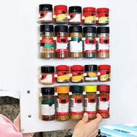Wholesale Wholesale Spice Racks - 4PC Set Kitchenware Simple Bottle Clips Storage Shelf Seasoning Bottle Shelf Kitchen Spice Organizer