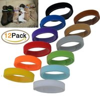 Wholesale nylon dog collar large for sale - 12PCS SET Pet dog neck strap labeling necklace for dogs cats pet collar identity ID tags pet supplies colors