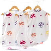baby schlafweste großhandel-Infant Baby Baumwolle Schlafsack Neugeborenen Wrapping Schlafsack Cartoon Weste Schlafsack Swaddling Decke