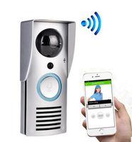 Wholesale wireless door video camera - WIFI 720P Video Doorbell Wireless Door Phone Intercom Monitor Smart Bell HD Camera PIR Motion Sensor Night Vision Unlock LLFA