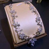 Wholesale Night Earrings - luxury timbo Earring and Necklace Set Zircon Glaring Party Night Yung Lady Noble Graceful All matching
