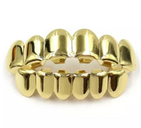 Wholesale Fashion Teeth - Gold Color Grillz Teeth Grillz Fashion Electroplating Teeth Grillz Teeth Mouth Grills Body Jewelry For Women &Men Cocotina D02872