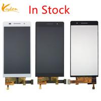 huawei p6 lcd touch großhandel-Auf Lager Schwarz Weiß Für Huawei P6 LCD Display + Touchscreen Digitizer Glass Panel montage Für Huawei Ascend P6