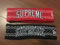 siyah baş bantları toptan satış-Moda Ark Logosu Bandı süper Bandı Pamuk Bantlar Spor Kafa Saç Yoga Saç Bantları stokta siyah kırmızı