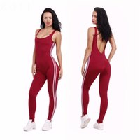 Wholesale wholesale clothing sexy dance - Summer Sexy Yoga Suit Women Sports Backless Fitting Jumpsuit Gym Running Dancing Tight Wear Suits Workout Clothing