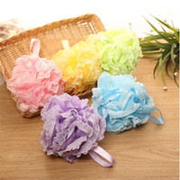 Wholesale Bath Puffs - Thicken Bath Cleansing Lace Bathing Ball Massage Puff Sponge Shower Mesh Net Scrub Skin Bathing Products