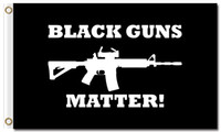 Wholesale popular poster - Black Guns Matter Rifle Flag 90x150cm 100D Polyester Fabric Posters 3x5ft Popular Rights Home Decoration Banners