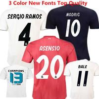 cf1f1c262 Camisetas de fútbol Madrid Football Shirts 18 19 España Bale Sergio Ramos  Isco Asensio Camisetas de fútbol Modric Champions Uniforms Red Kids