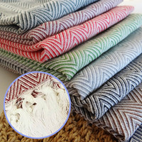 Wholesale Cotton Handmade Tablecloth Tassel Napkin Kitchen Towel Dish Towel Cleaning Cloth x60cm Tea Towel With Tassel Decoration