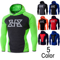 Wholesale slim fit clothing brands for men online - New Brand Tracksuit Men Skinny Hoody Fashion Compression Clothes Slim Fit Sporting Mens Hoodies And Sweatshirts High Quality for Women