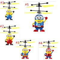 kinder elektrische kugel großhandel-Dhl-freies Verschiffen RC Hubschrauber-Brummen scherzt Spielwaren fliegende geführte blinkende Kugel-Flugzeuge leuchten Spielzeug-Induktions-elektrischen Sensor für Kinder