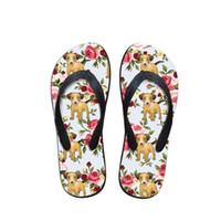 75f83ef0fc1a wholesale Hawaii funny cute girls shoes summer lady casual slippers corgi  Hound group Dachshunds print women flip flops drop