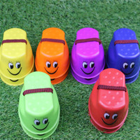Wholesale inflatable walking pool - Fun Kid Outdoor Sports Balance Training Toy Cute Plastic Smile Face Walk Stilt Jump Toys Colourful 1 15xp C