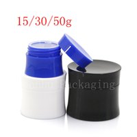 Wholesale unique plastic bottles - 15g 30g 50 Empty Cosmetics Skin Care Cream Container ,Plastic Bottles , White Black Blue Cream Tin ,Unique Jar Can 40pc LOT