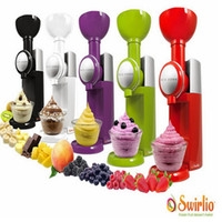 máquinas de sorvete usadas venda por atacado-Big Boss Swirlio máquina de sorvete de frutas em casa uso automático congelados mini máquina de creme de uso doméstico da UE plug 180 w ice cream maker