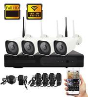 système de sécurité extérieur de dôme achat en gros de-Yobang Sécurité Sans Fil 4CH Système De Sécurité CCTV Wifi NVR Kit 960P 1.3MP Caméra IP Enregistrement Vidéo Extérieure Dôme Étanche Caméra