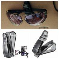 Wholesale Eyeglasses Holder Clip - Car Visor Glasses Sunglasses Ticket Clip Holder eyeglasses Reflector carrier hanger Bag Clips black for Auto car 300pcs YYA1286