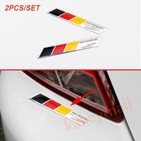 emblèmes de voiture de drapeau achat en gros de-Paire de corps de camion de voiture en aluminium décorer autocollant autocollant drapeau Allemagne Logo emblème rayures Accessoires
