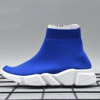 Wholesale pink blue baby socks online - cheap Children s shoes Speed Trainer Kids Running Shoes High Quality Baby Sneakers Speed Trainer Sock Race Runners Shoes