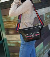 Wholesale red stripe pillow - Hot Sale Classic Brand Women Men Waist Bag Elegant Women Shoulder Bags Signature Letter Cross Body Bags Besigners Crossbody Bag
