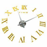 Wholesale eva diy sticker - Home DIY Clock EVA Sticker 3D Home Decoration Modern Art Giant Watch