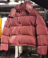 chaqueta rosa brillante al por mayor-2019 Invierno Moda Mujer Estilo francés Chaqueta gruesa Chaqueta con capucha Chaqueta de mujer Chaqueta rosa brillante Caille