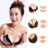 Wholesale Cup Pads - Silicone Push-up Breast Pad Chicken Fillets Gel Bra Breast Enhancers Bra Insert Pad 3 Styles AAA350
