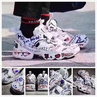 Wholesale cheap black leather pumps - 2018 Vetements x Insta Pump Fury Boots Shoes Cheap Instapump Graffiti Running Shoes Sport Trainer Sneakers Sale Online